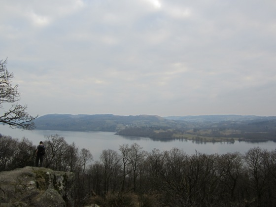 View on the lake windermere, 300m above