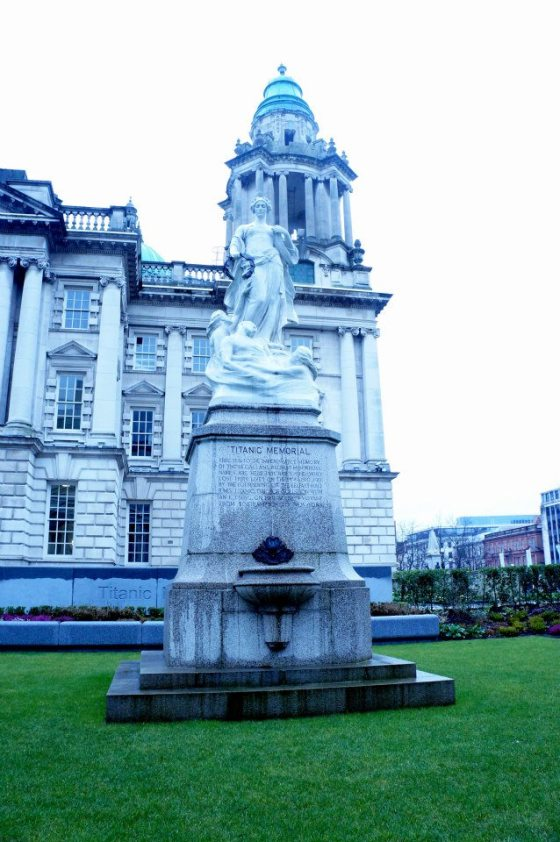The Titanic Memorial, in front of the city hall