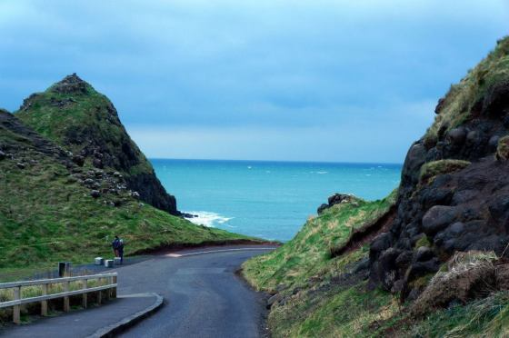 Giant's Causeway: on our way