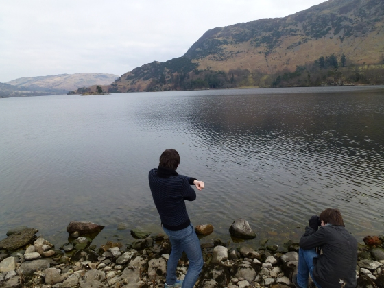 Rock skipping on Ullswater !