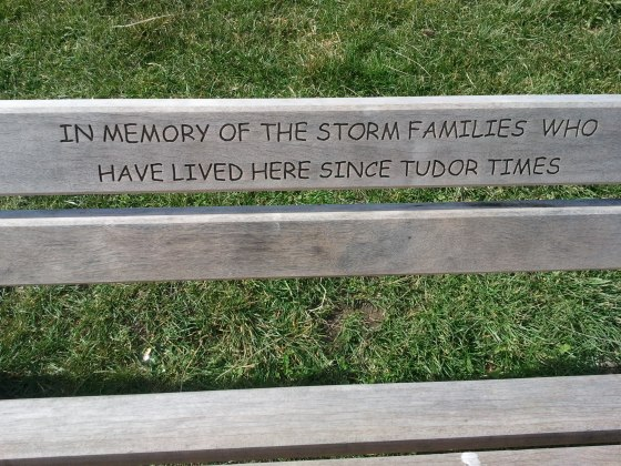 Comic Sans bench - Robin Hood's Bay